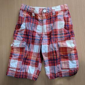 Old Navy plaid cargo shorts